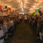 Image of the tent during the crab feed event